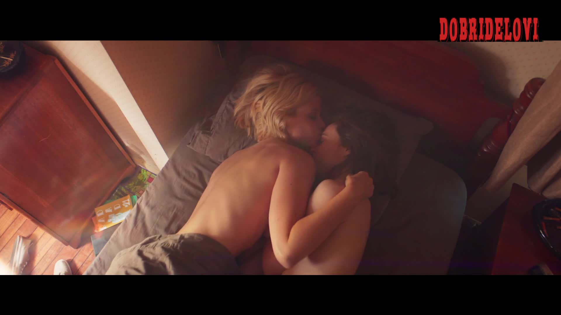 Ellen Page and Kate Mara lay topless in bed