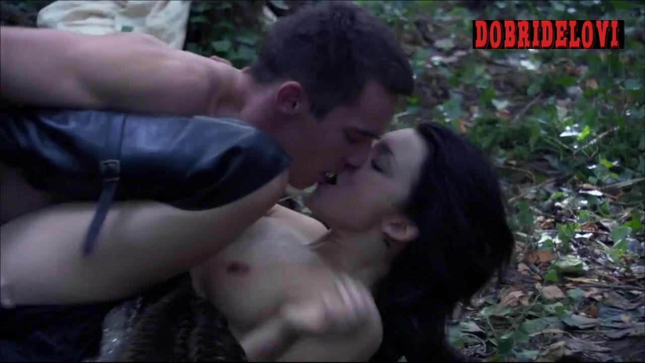 Natalie Dormer passionate sex in woods scene from The Tudors
