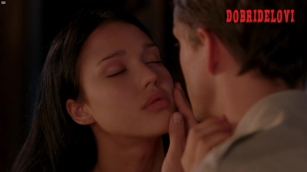 Jessica Alba tits sucked by Hugh Dancy in The Sleeping Dictionary