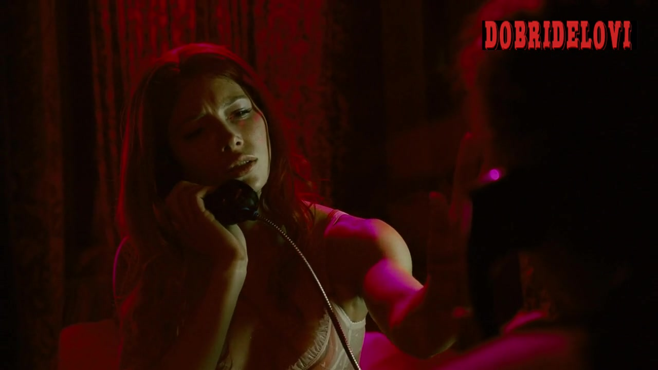 Jessica Biel talking on phone scene from Powder Blue