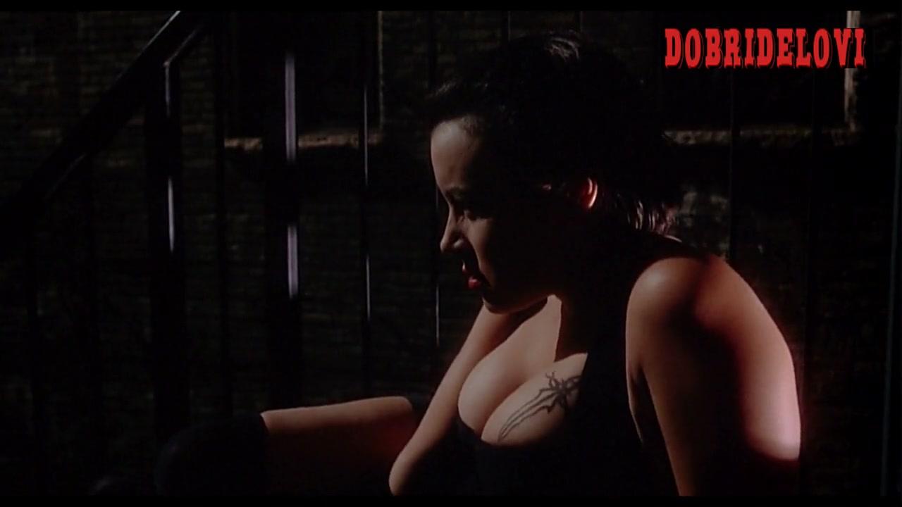 Jennifer Tilly sexy black dress scene from Embraca of the Vampire