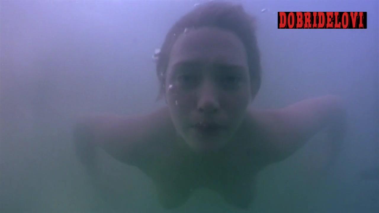 Kate Winslet swimming naked scene from Iris