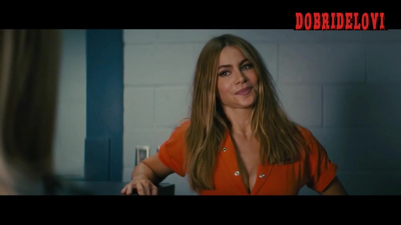 Sofia Vergara prison cleavage scene from Hot Pursuit