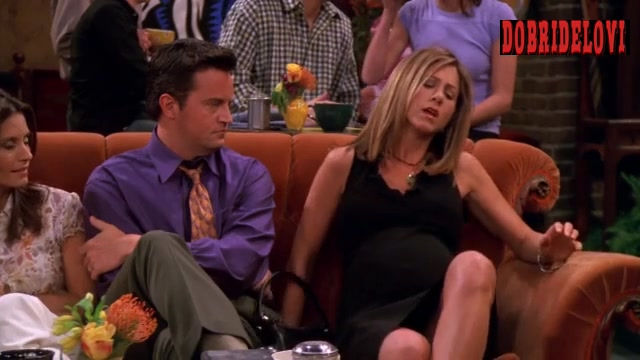 Jennifer Aniston upskirt scene from Friends