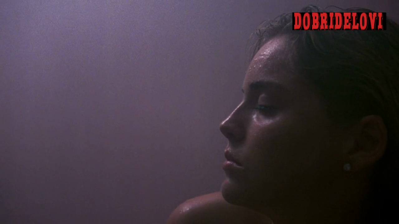 Sharon Stone nude in the steam room scene from Action Jackson