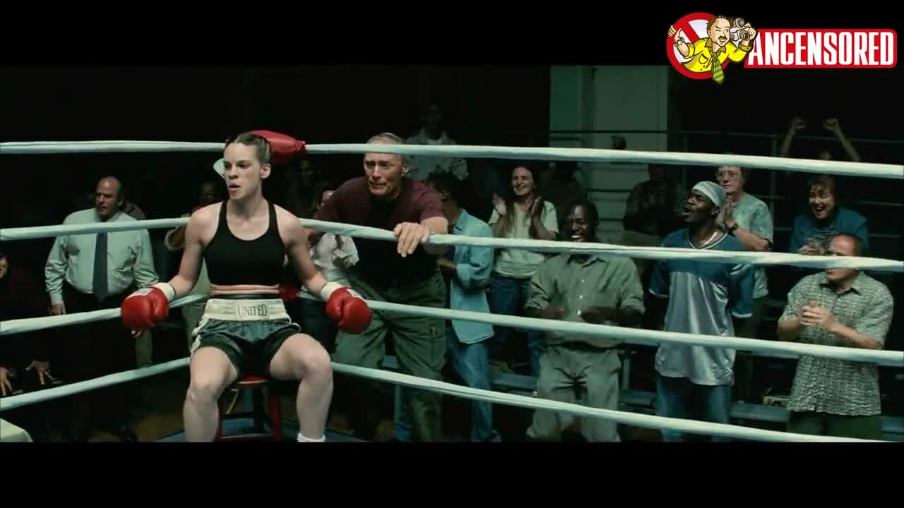 Hilary Swank sexy scene from Million Dollar Baby