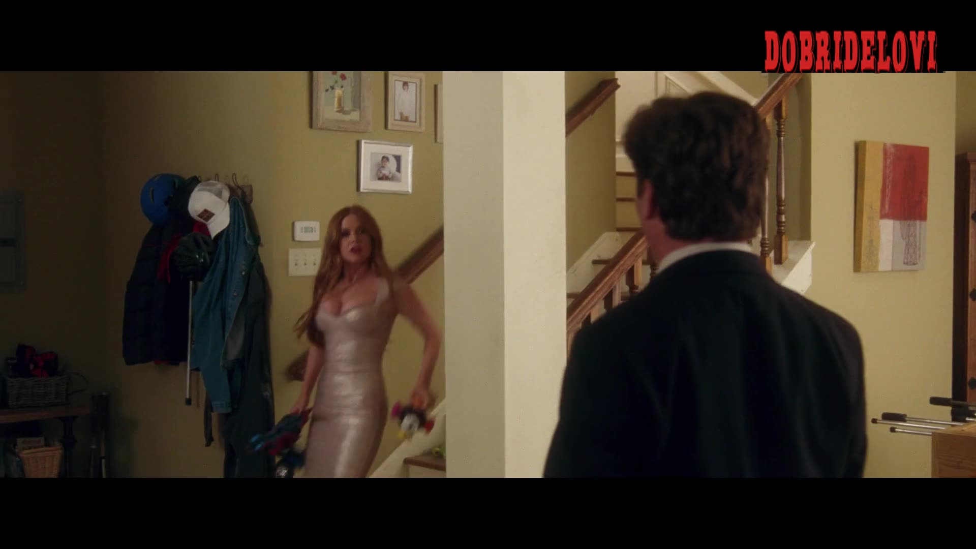 Isla Fisher sexy tight dress scene for Keeping Up With The Joneses