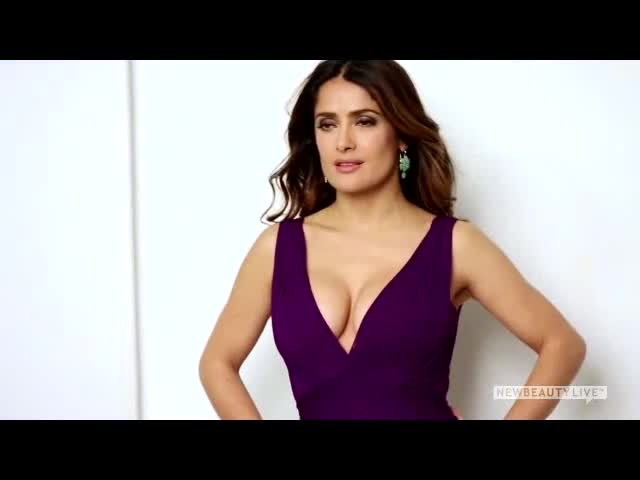 Salma Hayek photo shoot for New Beauty