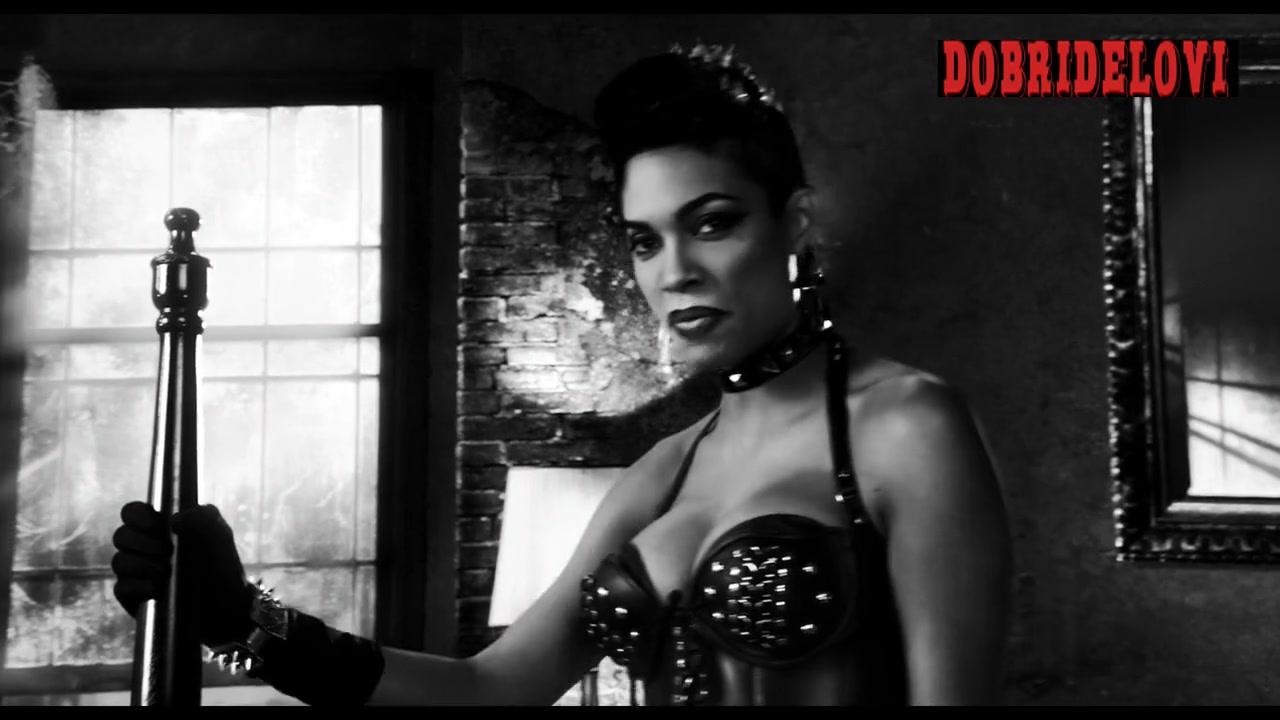 Rosario Dawson sexy dominatrix scene from Sin City a Dame to Kill For