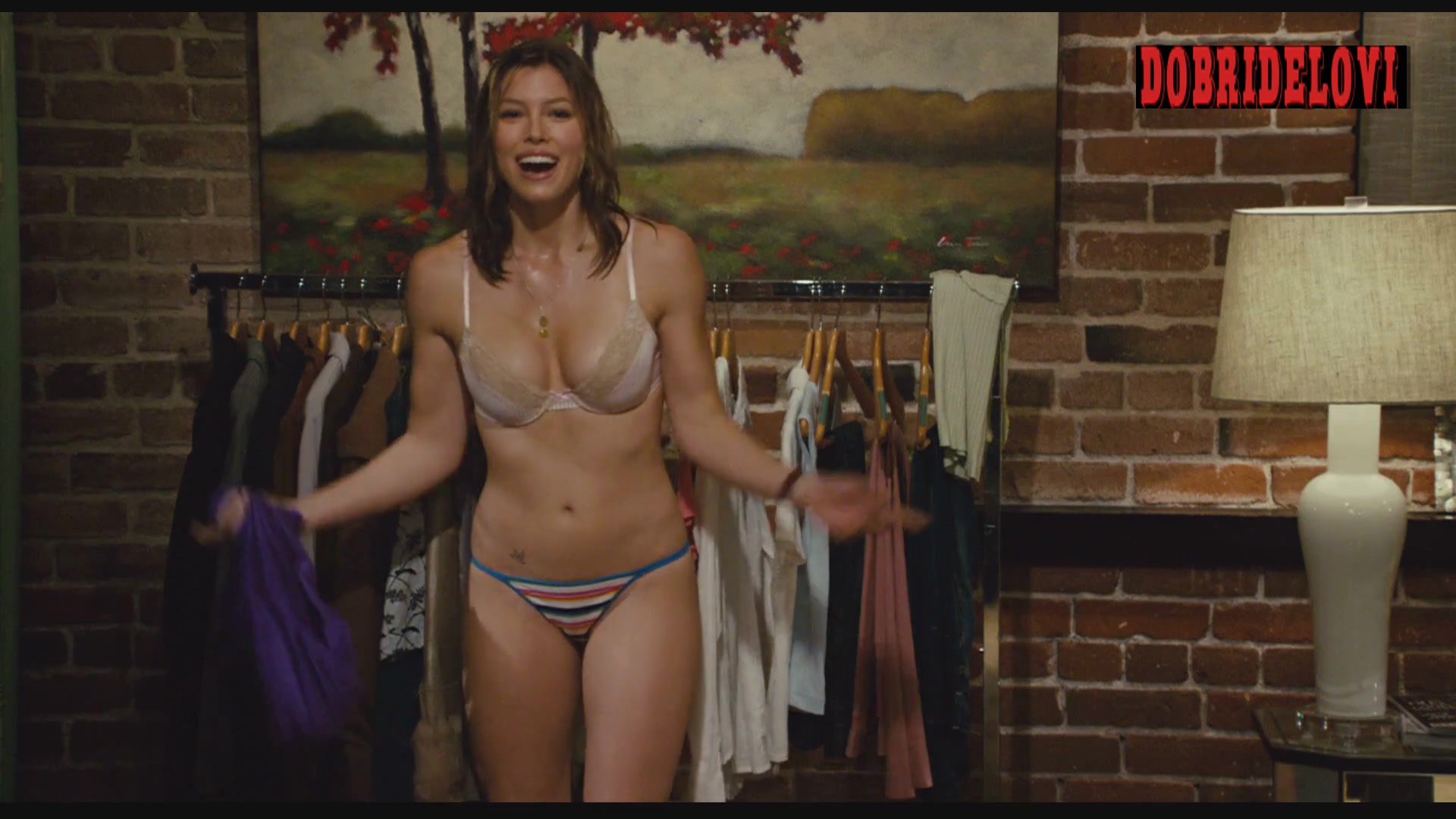 Jessica Biel undresses for Adam Sandler in I Now Pronounce You Chuck Larry