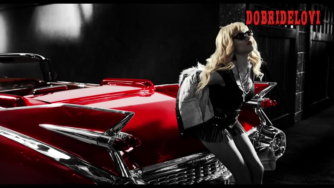 Rosario Dawson sexy blonde wig scene from Sin City a Dame to Kill For