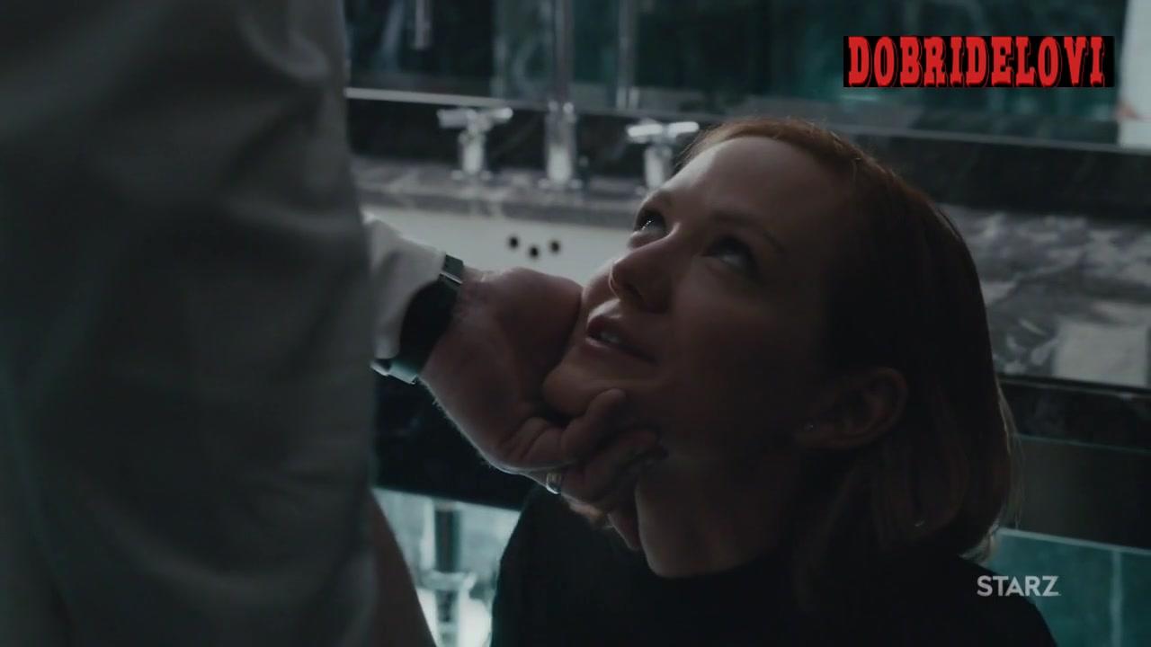 Louisa Krause blowjob in bathroom scene from The Girlfriend Experience
