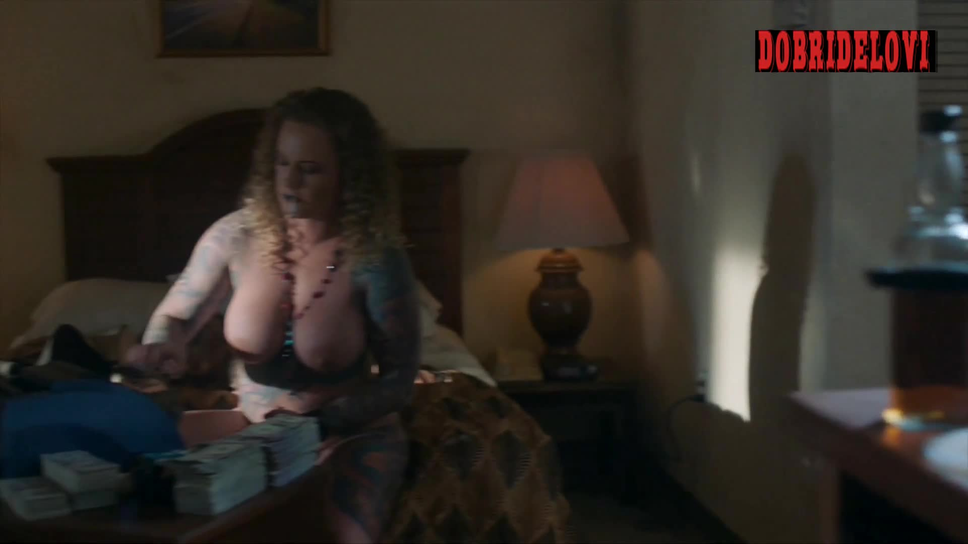 Ashley Dougherty, money and drugs scene from P-Valley