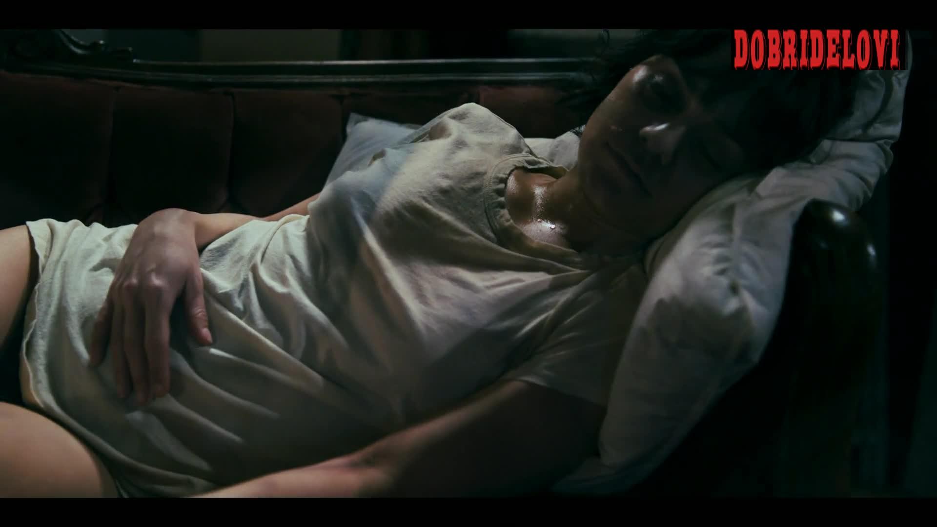 Vanessa Hudgens sexy sweaty sleeping scene from Polar