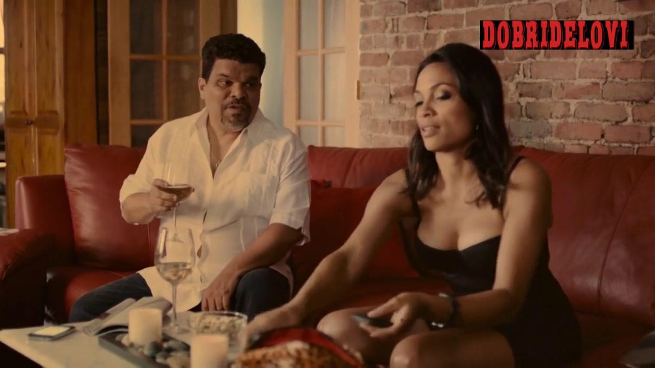 Rosario Dawson cleavage scene from Puerto Ricans in Paris