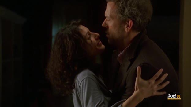 Dr. House gropes Dr. Cuddy's ass