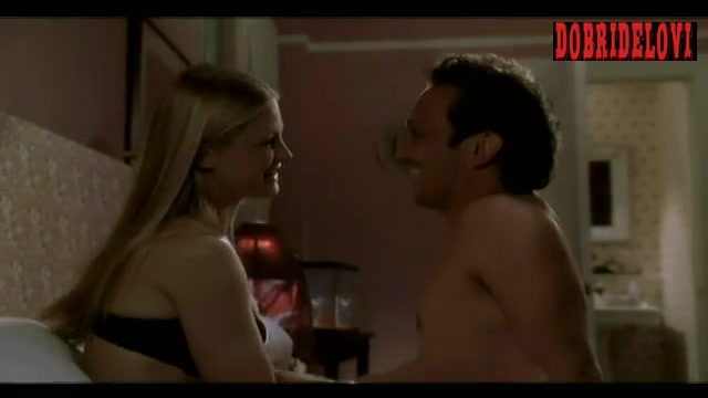 Arija Bareikis in bed with Rob Schneider scene from Deuce Bigalow