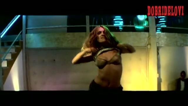 Salma Hayek pulls up shirt dancing in club scene from The Velocity of Gary