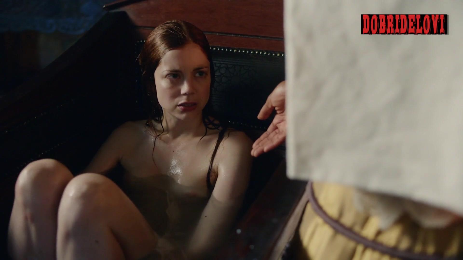 Charlotte Hope bathtub scene from The Spanish Princess