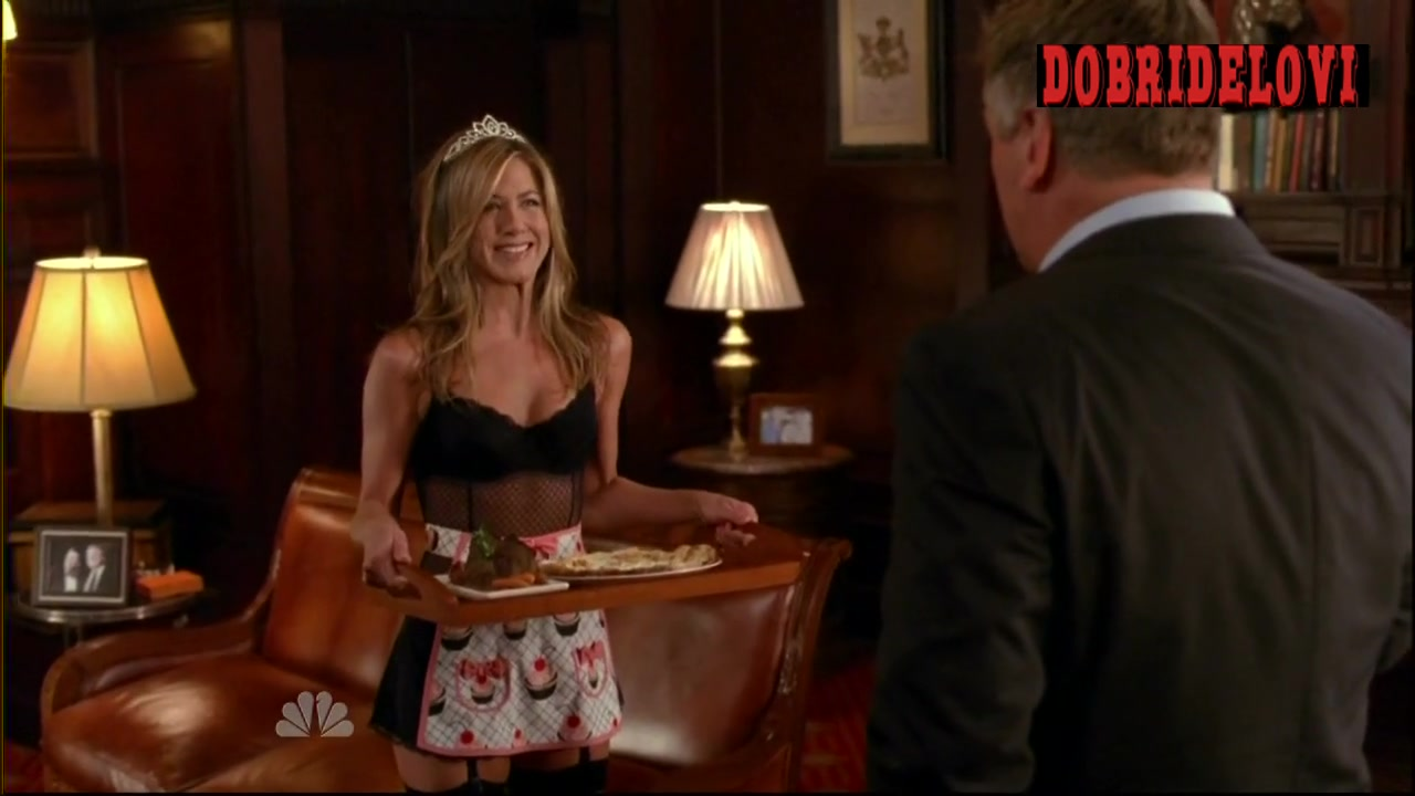 Jennifer Aniston clothes ripped off scene from 30 Rock