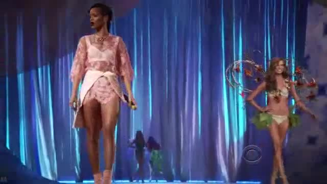 Karlie Kloss sexy scene from The Victoria s Secret Fashion Show 2012