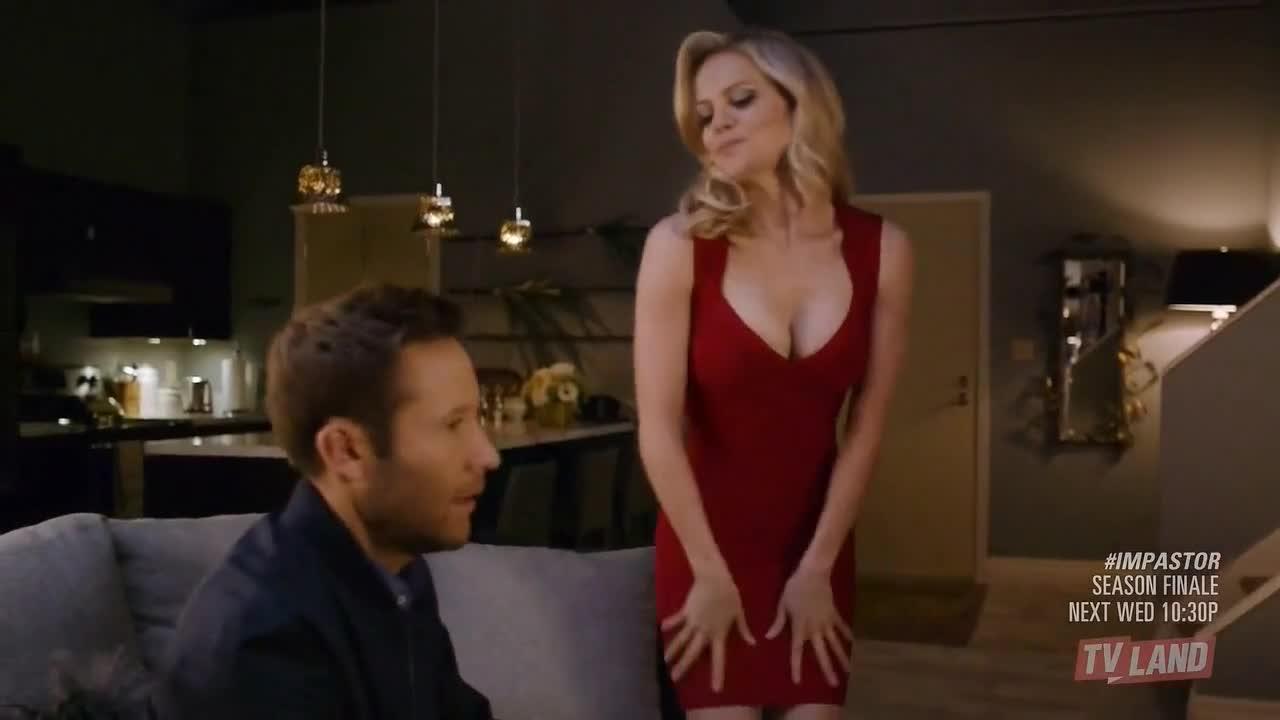 Mircea Monroe sex red dress scene in impastor