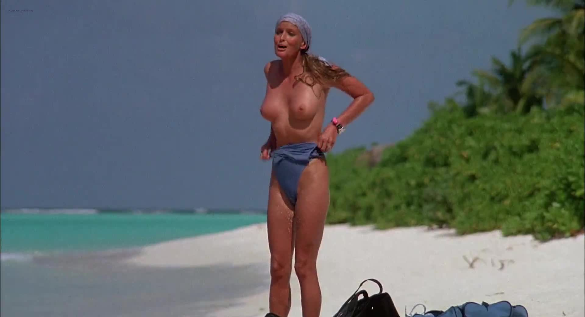 Bo Derek full frontal on the beach scene from Ghosts Can t Do It video image