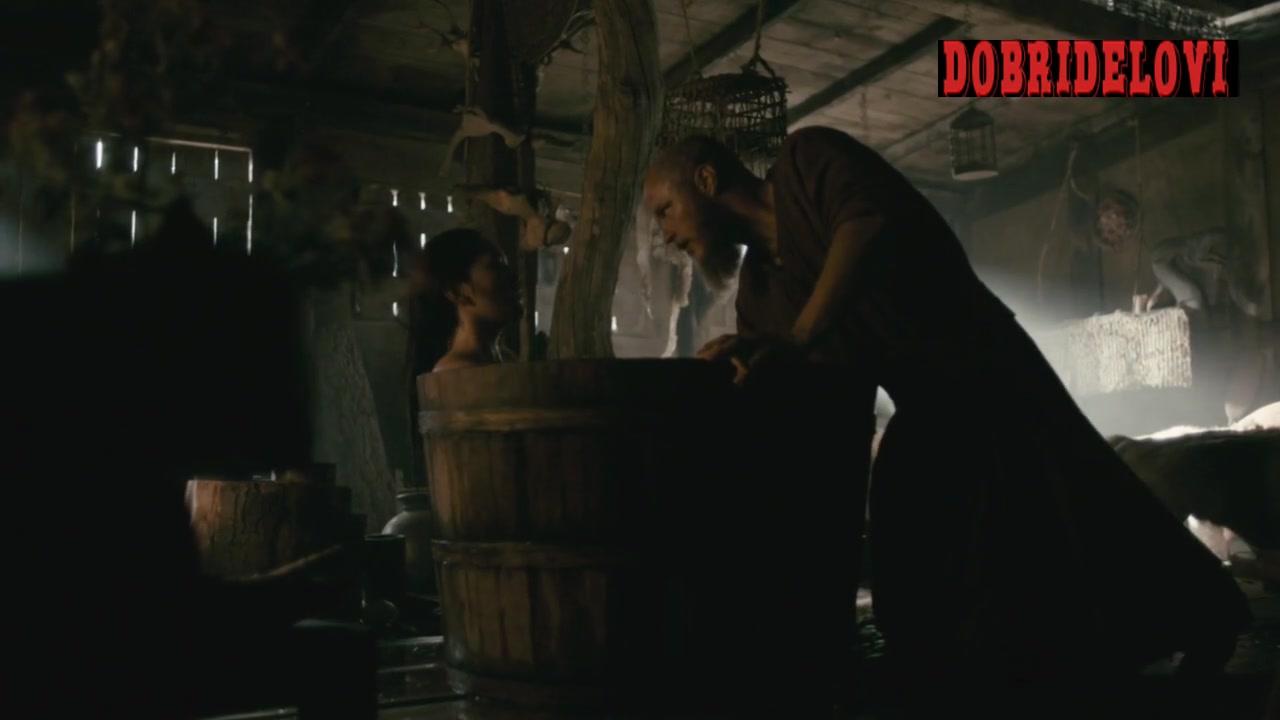 Dianne Doan taking a bath scene from Vkings