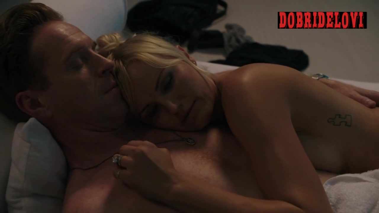Malin Akerman lays naked in bed with Damian Lewis in Billions