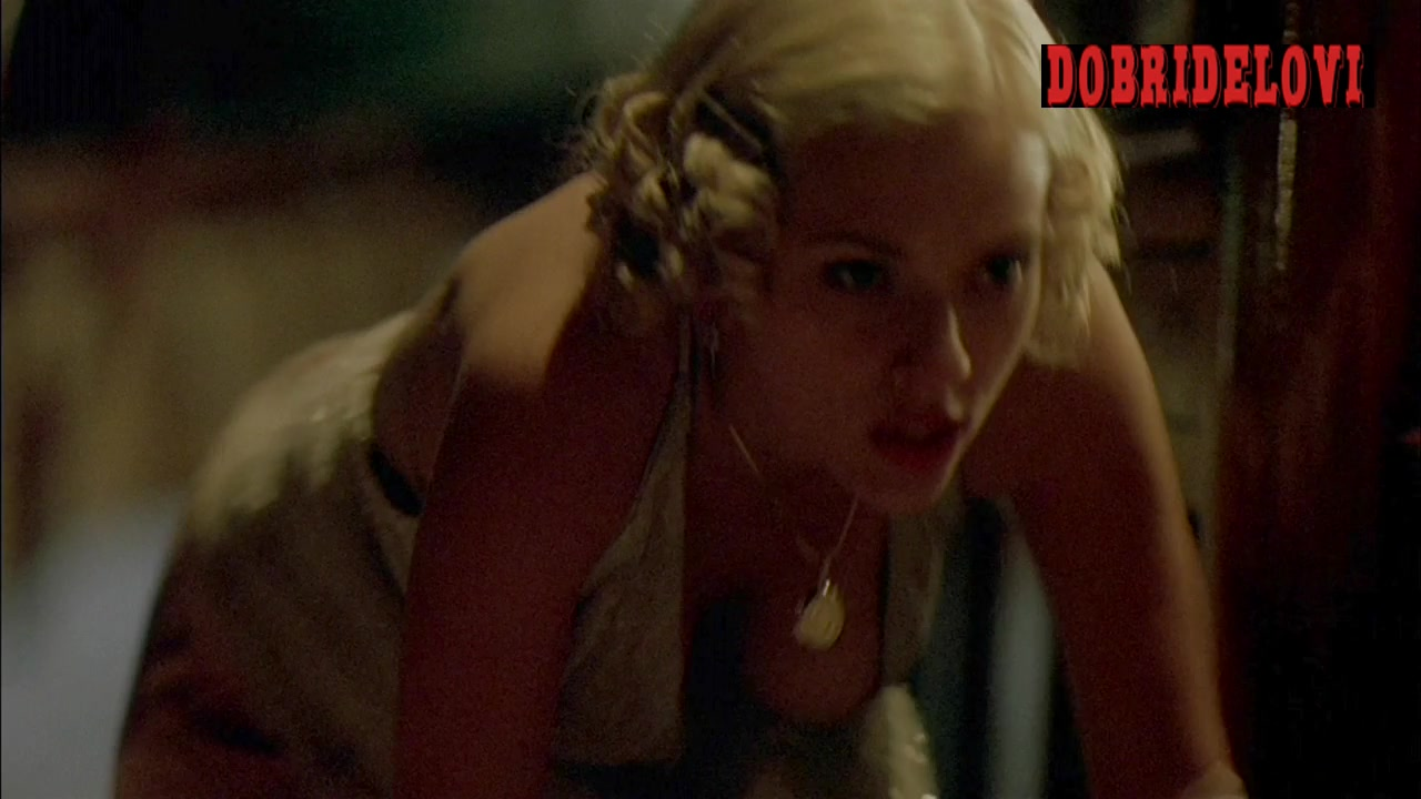 Scarlett Johansson crawling with left boob hanging scene