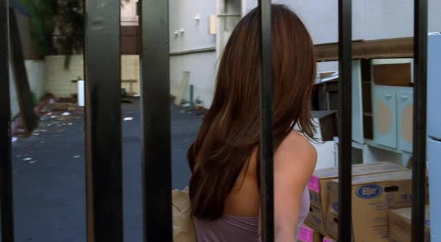 Sexy Vanessa Marcil walk with violet pants