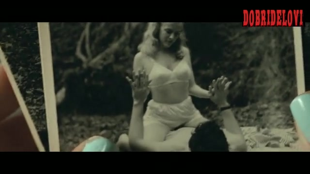 Riley Keough topless in photo scene from The Devil All the Time