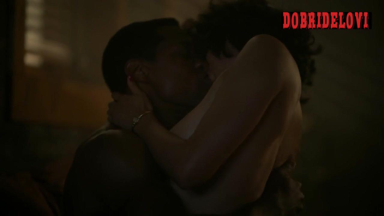Jurnee Smollett nude debut scene from Lovecraft Country