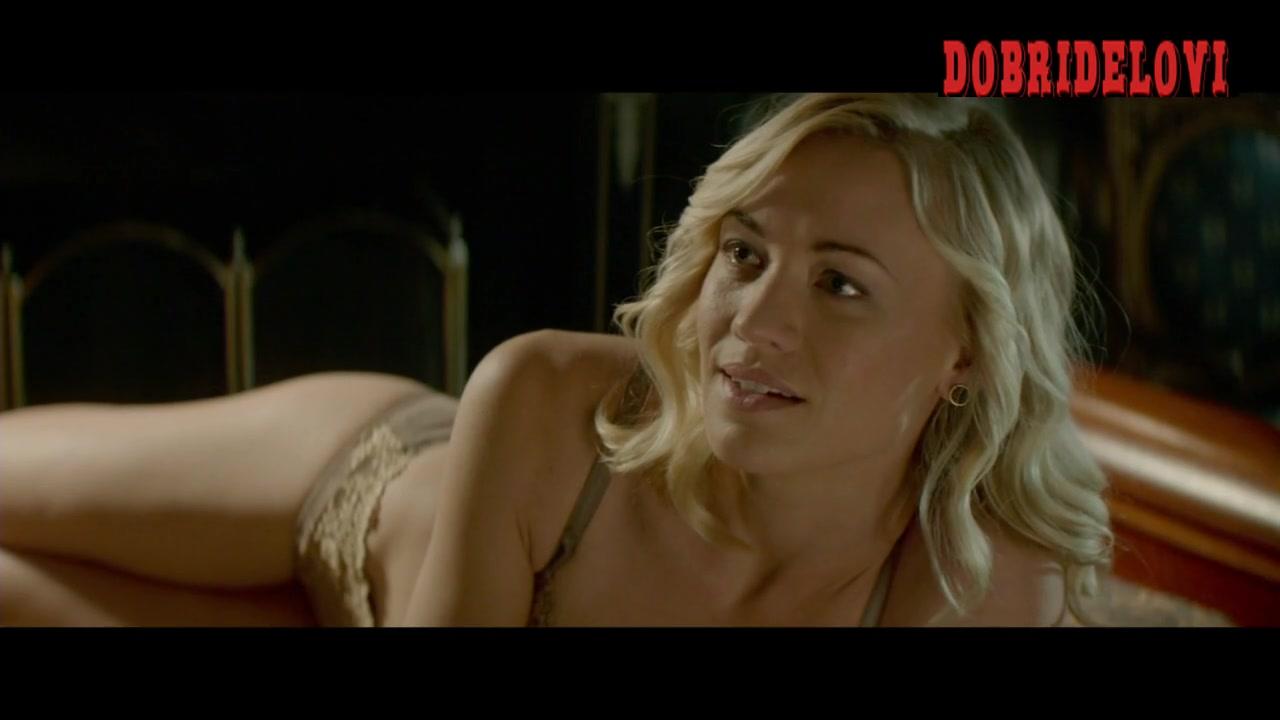 Watch Yvonne Strahovski lying in bed scene from Manhattan Night video