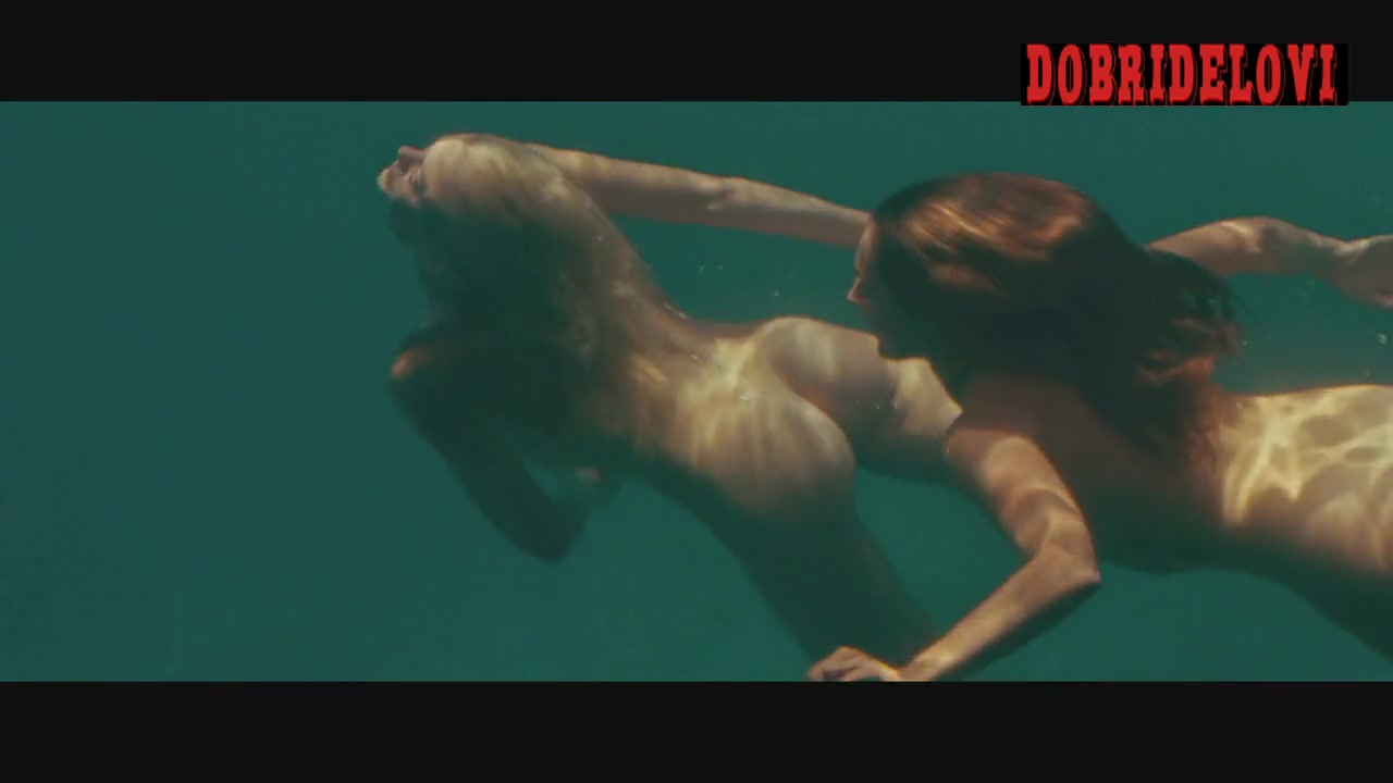 Kelly Brook, Riley Steele and Jessica Szohr skinny dipping scene from Piranha 3d