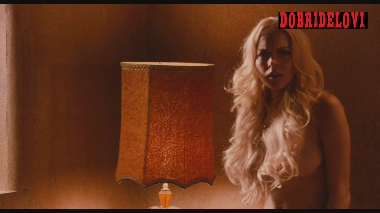Alicia Rachel Marek and Lindsay Lohan waking up nude scene from Machete