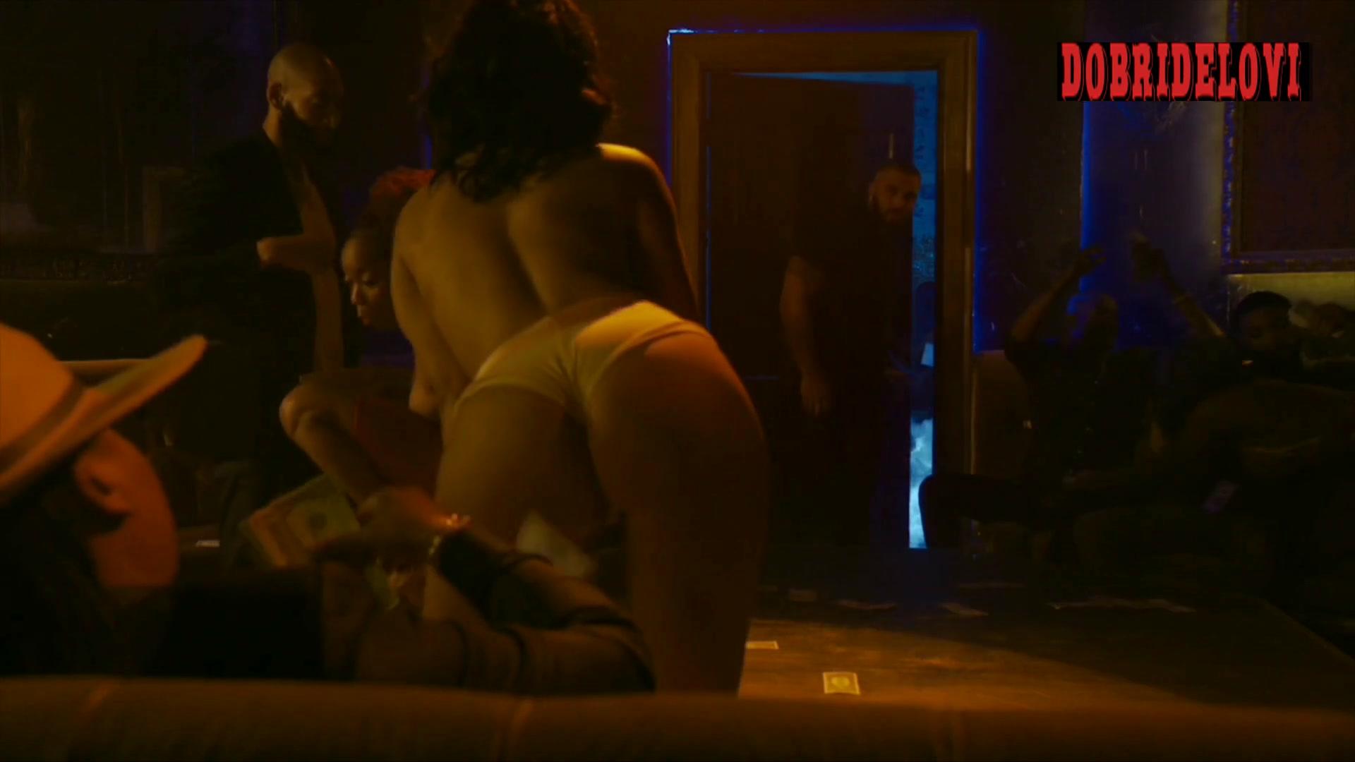 Elarica Johnson, Brandee Evans and Shannon Thornton dominatrix scene from P-Valley