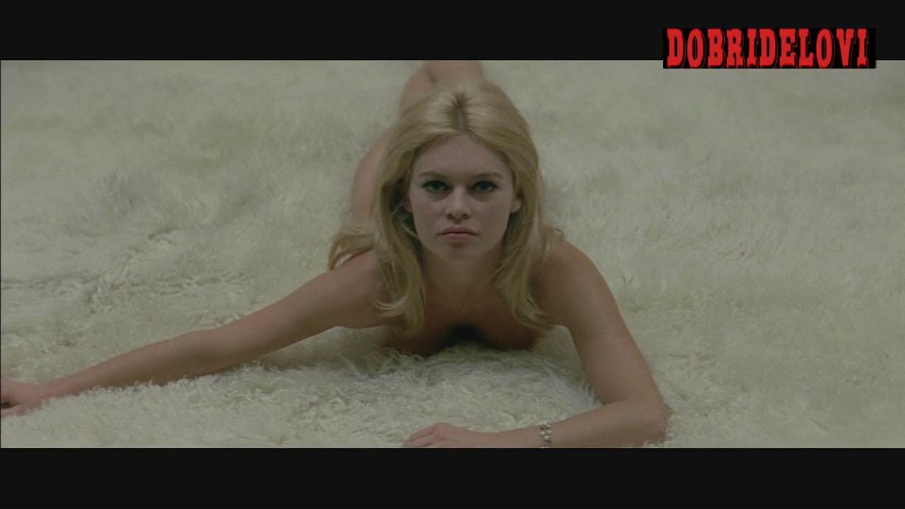 Brigitte Bardot lays nude in bed scene from Contempt