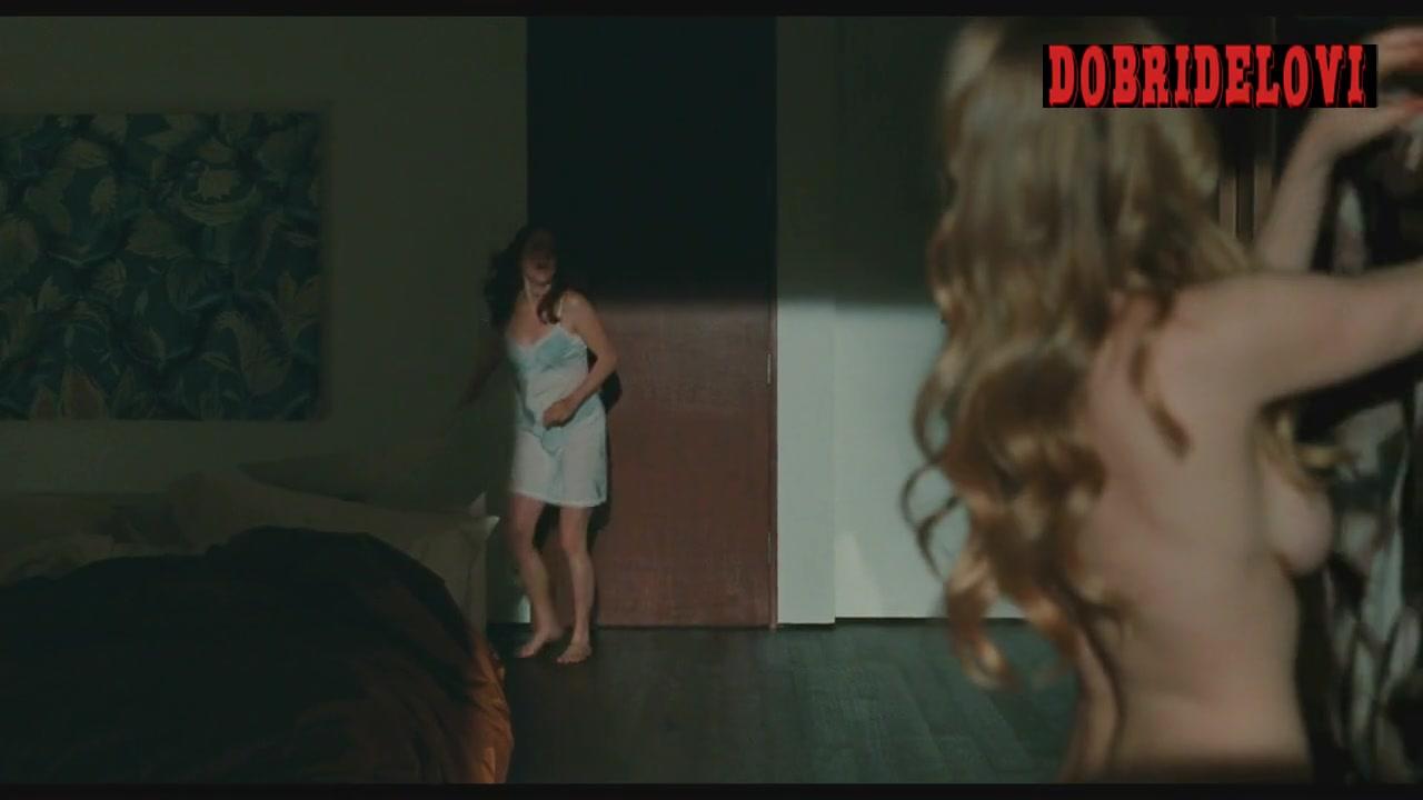 Amanda Seyfried dressing the silk robe in Chloe