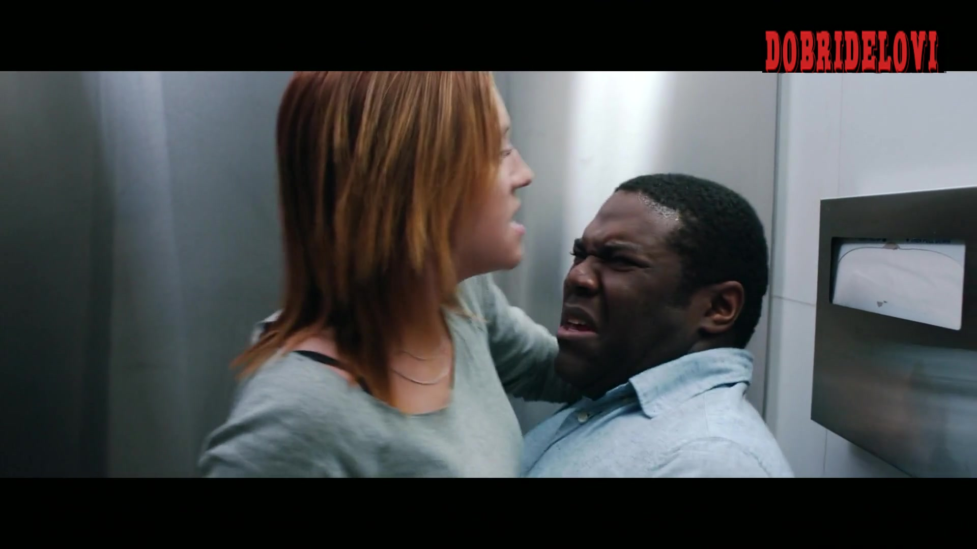 Brittany Snow gets banged by Sam Richardson in the bathroom