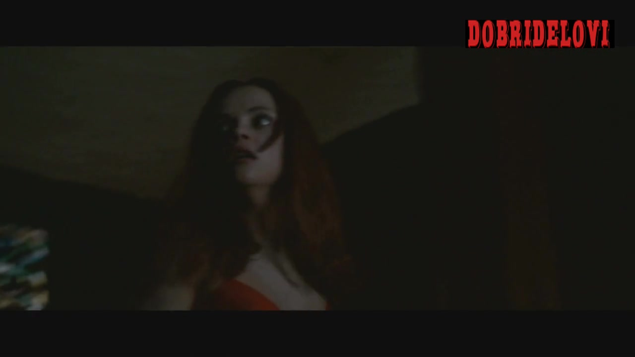 Christina Ricci sexy red nightie scene from After.Life