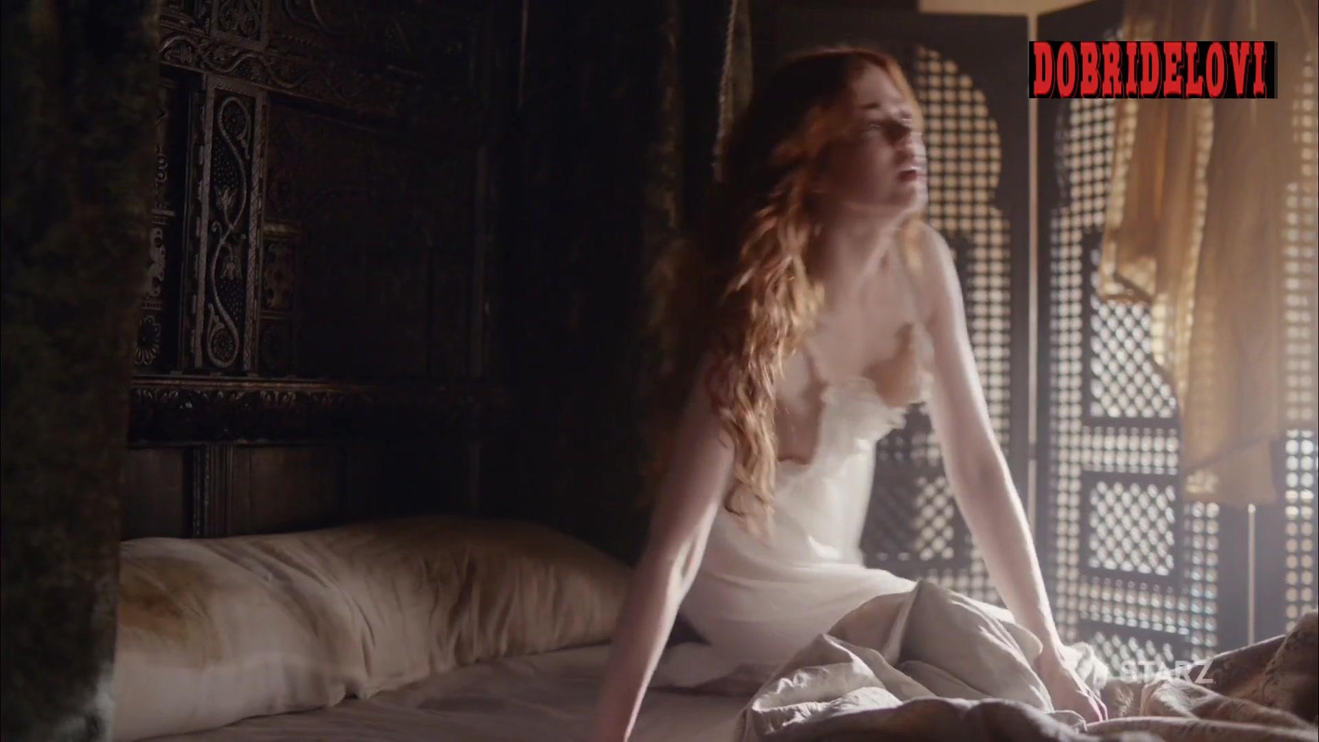 Charlotte Hope waking up scene from The Spanish Princess