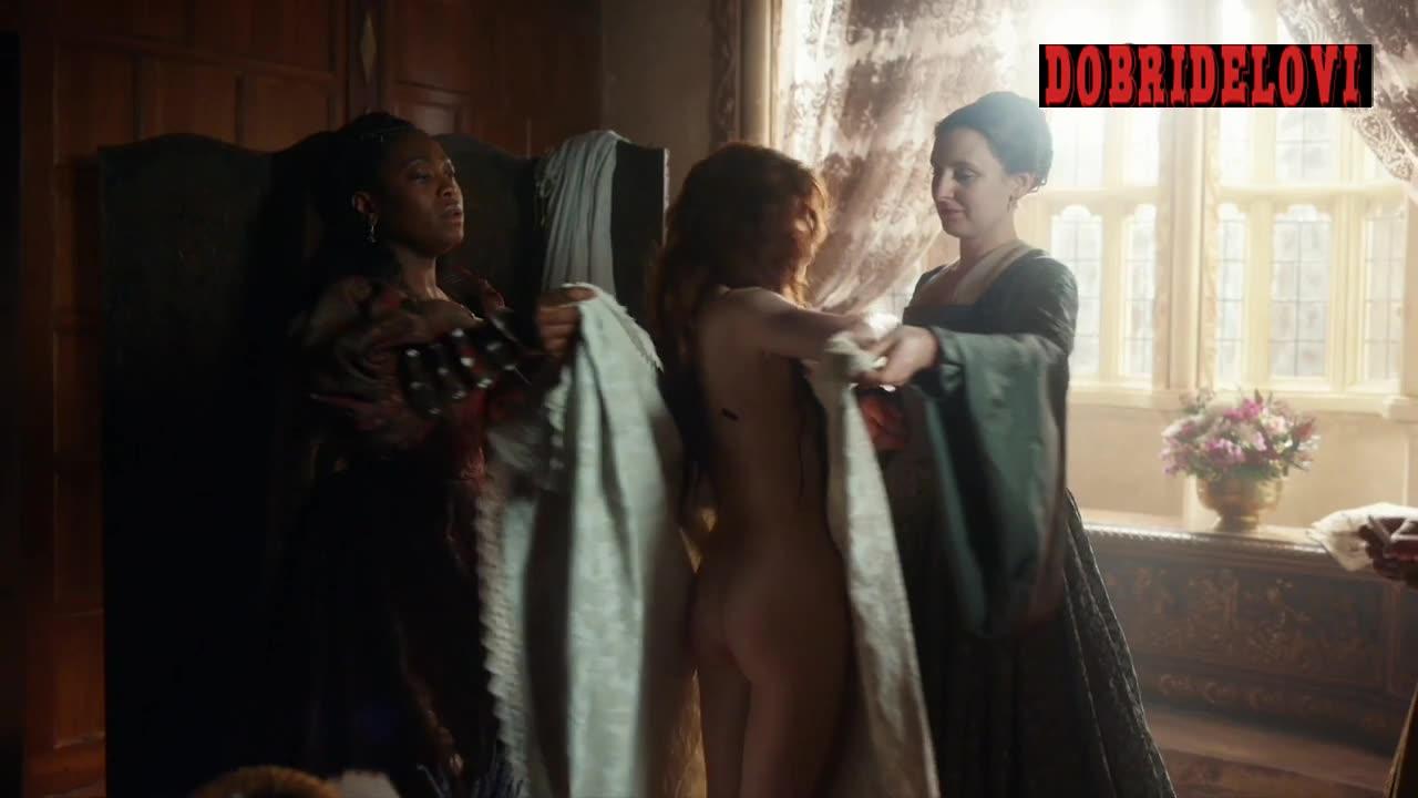 Charlotte Hope nude scene from The Spanish Princess