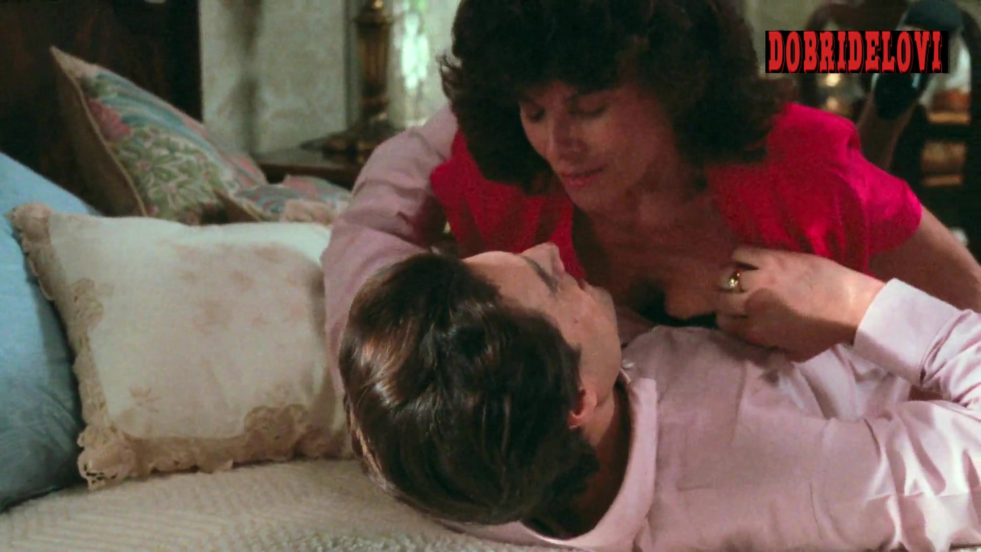Adrienne Barbeau breasts squeeze scene from Two Evil Eyes