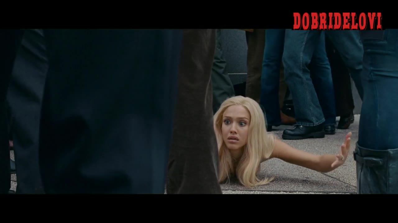 Jessica Alba fire scene from Fantastic 4: Rise of the Silver Surfer