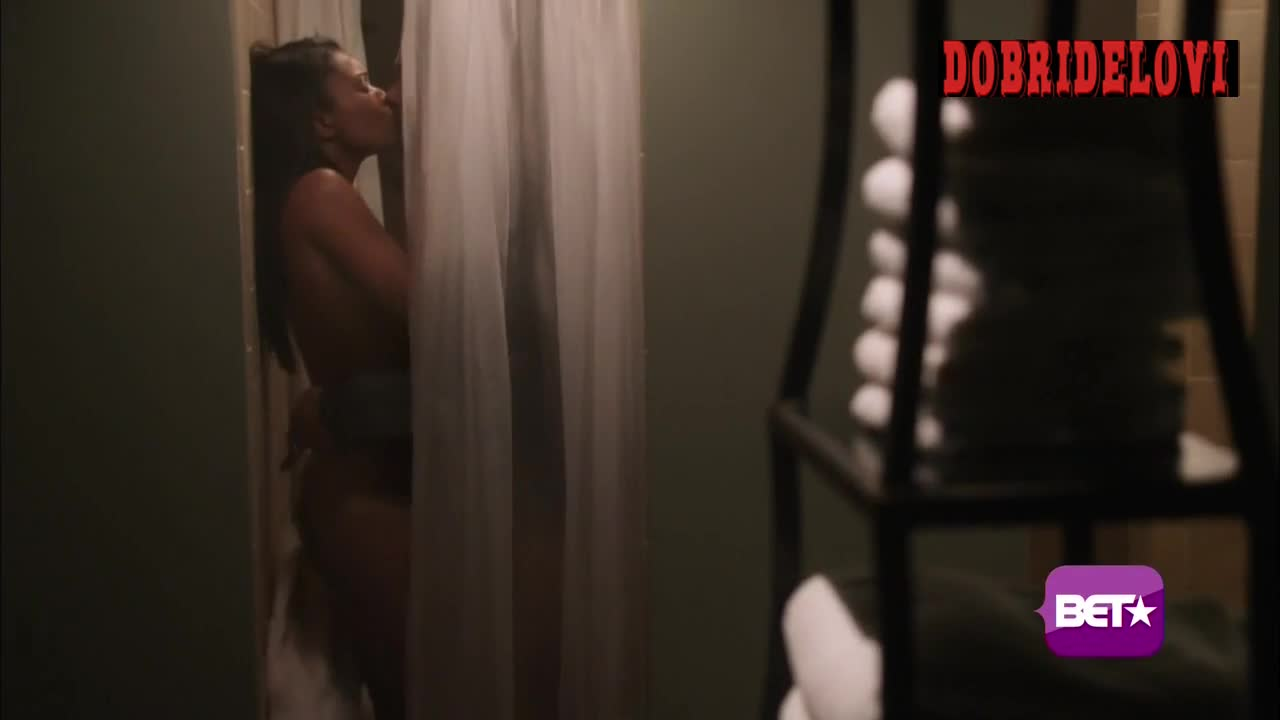 Gabrielle Union shower scene from Being Mary Jane