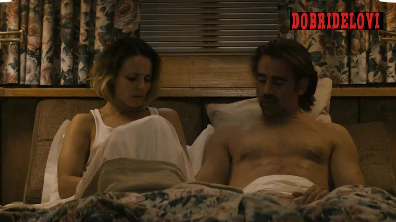 Rachel McAdams lays in bed with Colin Farrell scene from True Detective