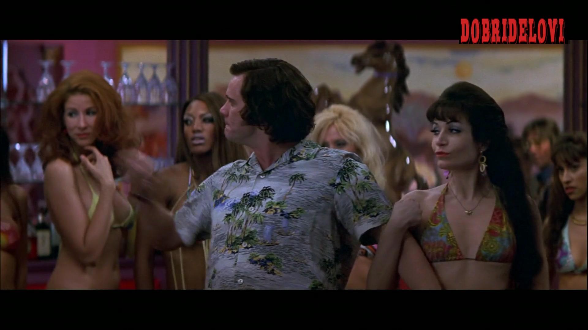 Watch Angela Jones and Krystina Carson bikini in bar scene from Man on the Moon video