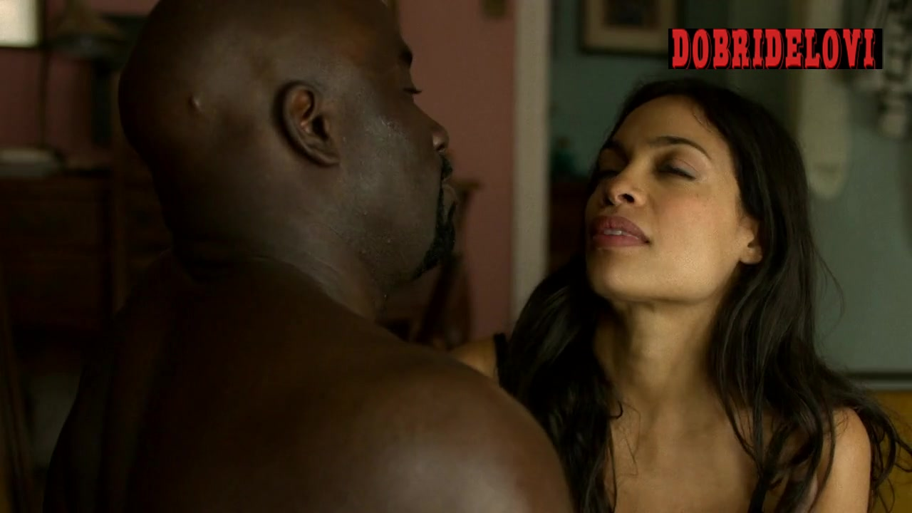 Rosario Dawson sex on table scene from Marvel's The Defenders