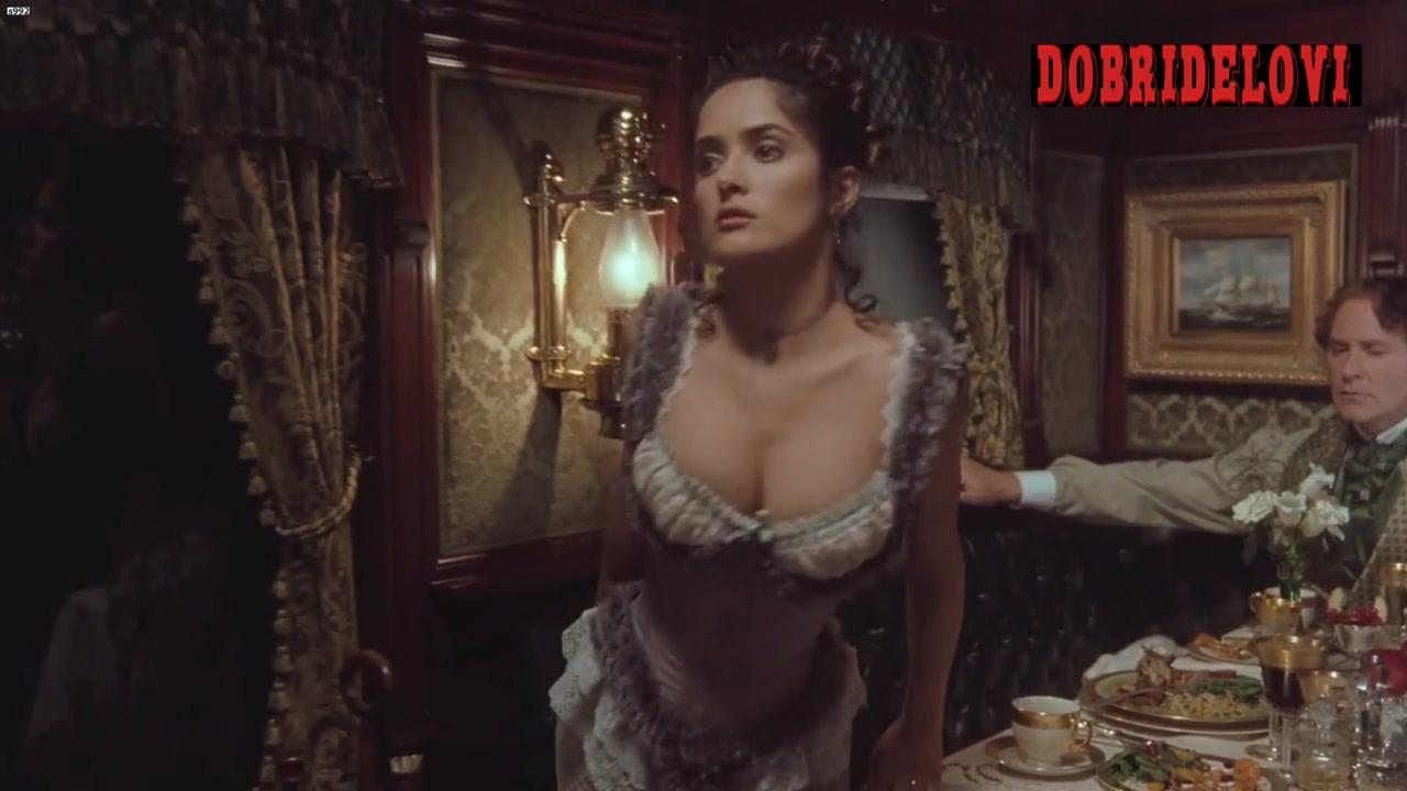 Salma Hayek cleavage scene from Wild Wild West
